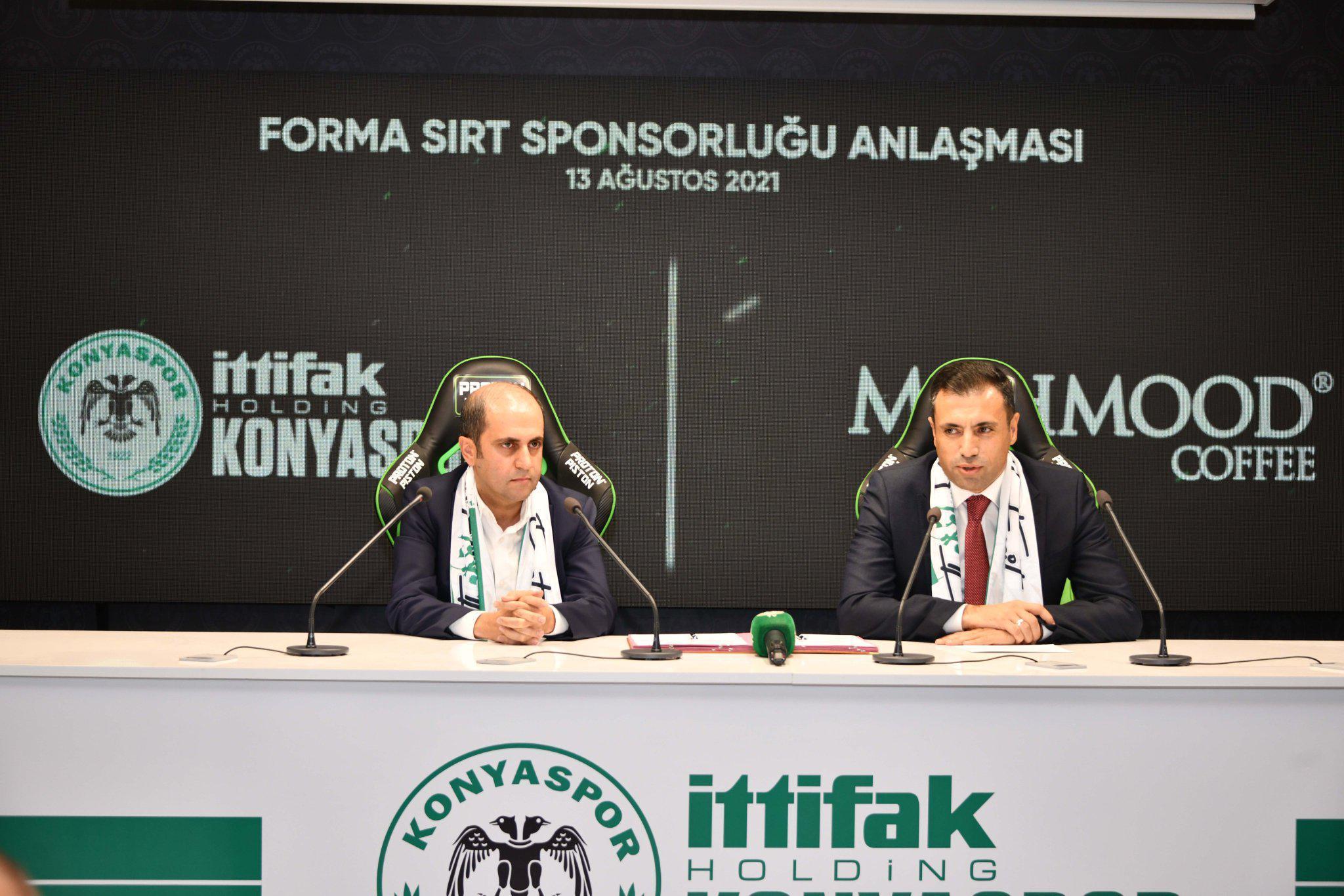 Konyaspor'un forma sırt sponsoru Mahmood Coffee oldu