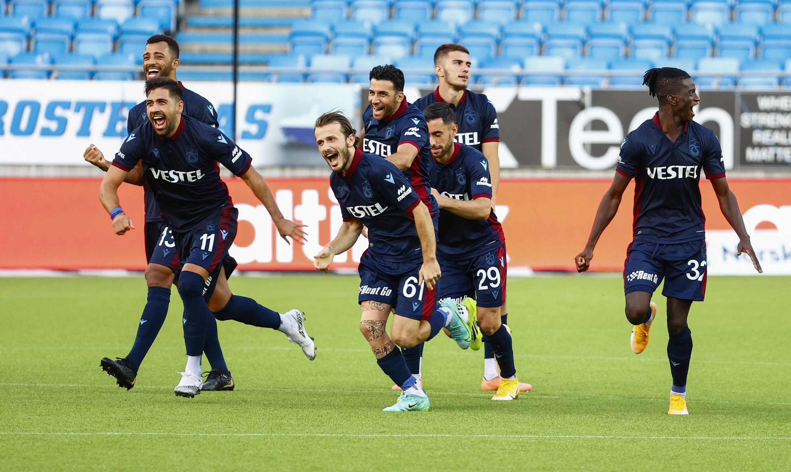 Trabzonspor'da 'tur' sevinci
